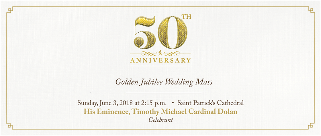 are you or someone dear to you celebrating 50 years of marriage